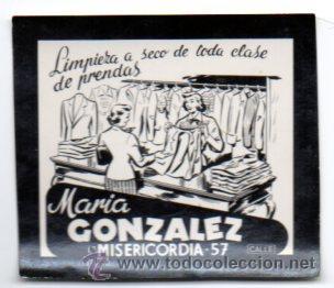 POSTALITA PUBLICITARIA,TINTORERÍA,AÑOS 60,ORIGINAL,LUZ FIJA DE LOS CINES,MUY RARA Y DIFÍCIL (Postales - Postales Temáticas - Publicitarias)