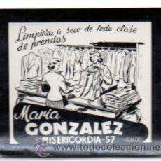 Postales: POSTALITA PUBLICITARIA,TINTORERÍA,AÑOS 60,ORIGINAL,LUZ FIJA DE LOS CINES,MUY RARA Y DIFÍCIL. Lote 46650374