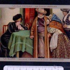 Postales: POSTAL ARTISTICA.PUBLICIDAD DE LA GLORIA, GALLETAS Y BIZCOCHOS.BARCELONA.SIN CIRCULAR.. Lote 46910541
