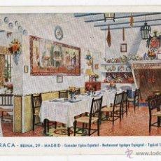 Postales: LA BARRACA. COMEDOR TÍPICO ESPAÑOL. MADRID. FRANQUEADA EL 23 DE MARZO DE 1952.. Lote 47363511