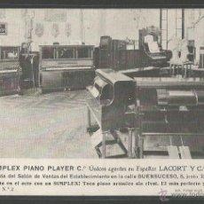 Postales: PIANOS - THE SIMPLEX PIANO PLAYER - BARCELONA - P5709. Lote 47743605