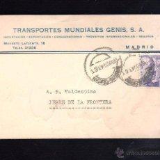 Postales: TARJETA POSTAL PUBLICITARIA. TRANSPORTES MUNDIALES GENIS. MADRID. 1943. Lote 48534857