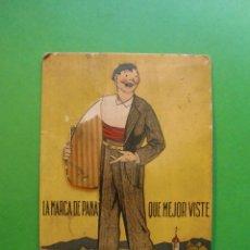 Postales: LA MARCA DE PANA QUE MEJOR VISTE - AÑOS 40. Lote 48717573