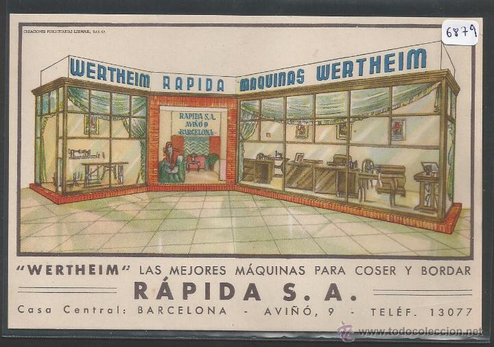 MAQUINAS DE COSER WERTHEIM - RAPIDA S.A. BARCELONA - P6879 (Postales - Postales Temáticas - Publicitarias)