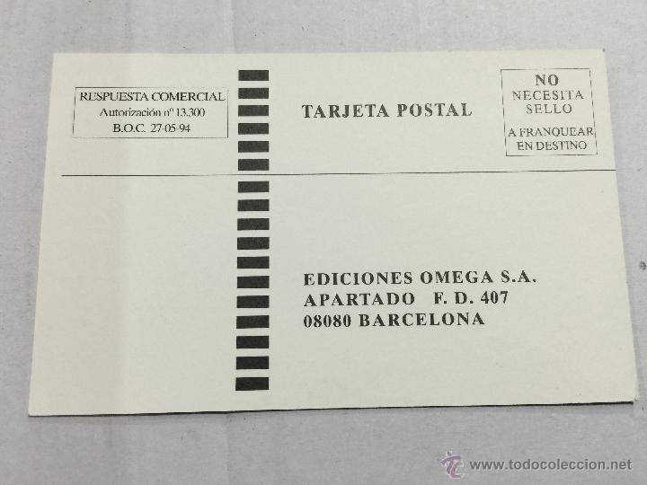 Postales: Postal promocional OMEGA, Guias del naturalista. 1994-1995 Mide 9x15 cm - Foto 2 - 48744908
