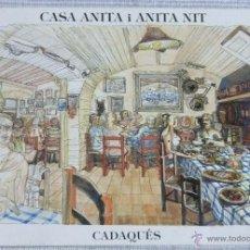 Postales: POSTAL DE CASA ANITA I ANITA NIT DE CADAQUÉS. Lote 49040392