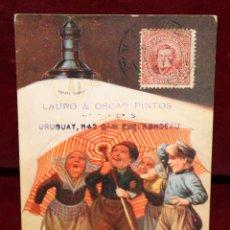 Postales: ANTIGUA POSTAL PUBLICITARIA DE LA CASA PHILIPS. CIRCULADA. Lote 49171972