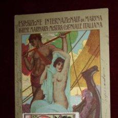 Postales: ANTIGUA POSTAL DE LA EXPOSICION INTERNACIONAL DE GENOVA. ITALIA. AÑO 1914. CIRCULADA. Lote 49172044