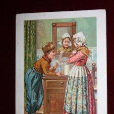 Postales: ANTIGUA POSTAL PUBLICITARIA DE LA CASA DE CHOCOLATE BENSDORP (AMSTERDAM). SIN CIRCULAR. Lote 49192201