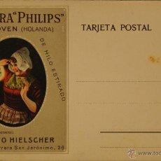 Postales: LAMPARAS PHILIPS - ILUSTRADA SIN CIRCULAR Y DORSO DIVIDIDO. Lote 49287241