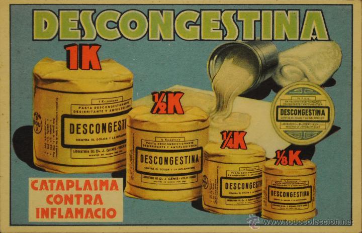 DESCONGESTINA - ILUSTRADA SIN CIRCULAR Y DORSO DIVIDIDO (Postales - Postales Temáticas - Publicitarias)