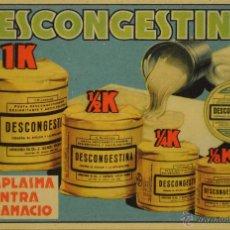 Postales: DESCONGESTINA - ILUSTRADA SIN CIRCULAR Y DORSO DIVIDIDO. Lote 49326409