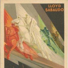 Postales: TARJETA POSTAL PUBLICITARIA. LLOYD SABAUDO. EXPOSICIÓN GENERAL ESPAÑOLA. SEVILLA - BARCELONA 1929.. Lote 49357348