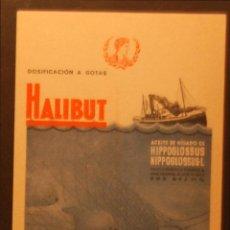 Postales: HALIBUT - ILUSTRADA SIN CIRCULAR Y DORSO DIVIDIDO. Lote 49394293