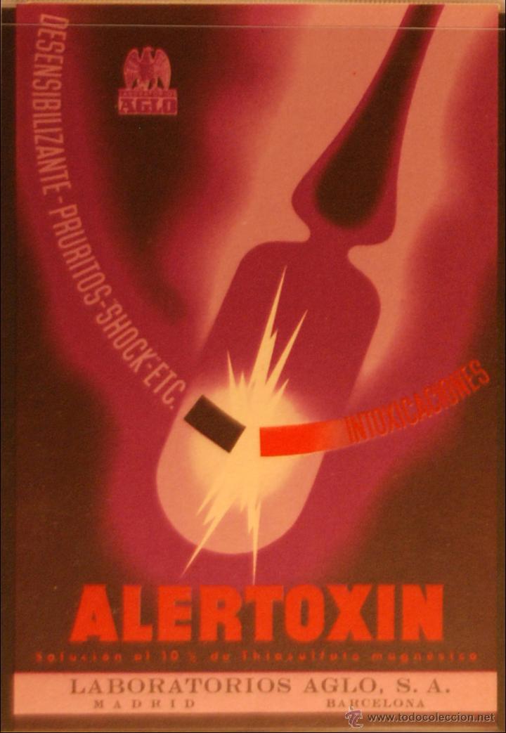 ALERTOXIN - ILUSTRADA SIN CIRCULAR Y DORSO DIVIDIDO (Postales - Postales Temáticas - Publicitarias)