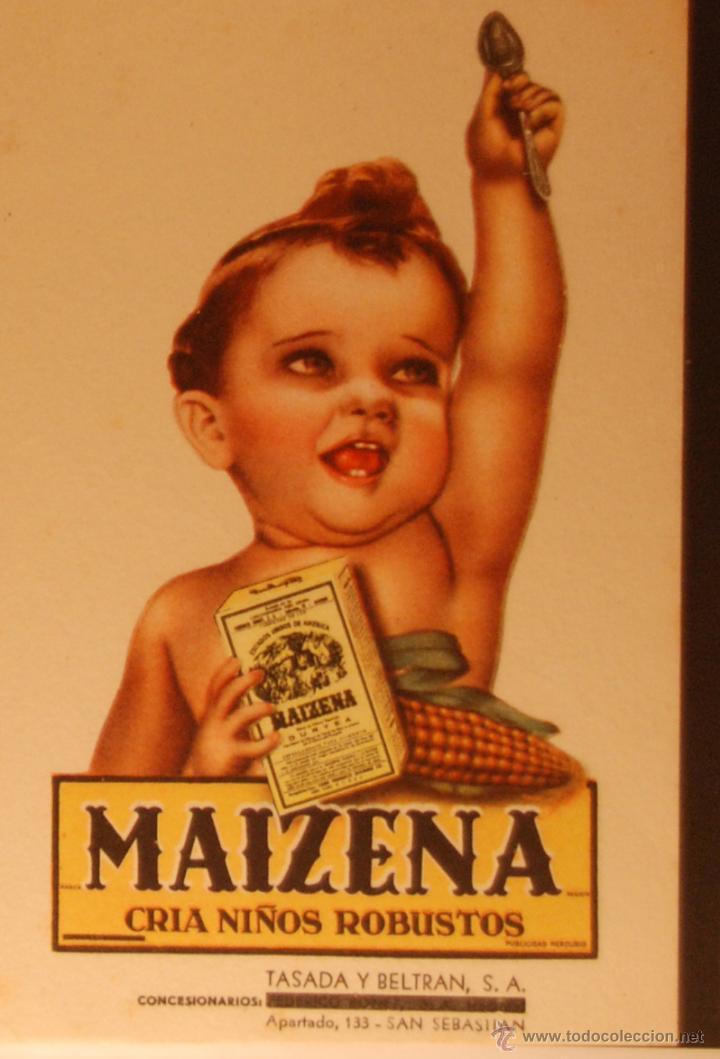 MAIZENA - ILUSTRADA SIN CIRCULAR Y DORSO DIVIDIDO (Postales - Postales Temáticas - Publicitarias)