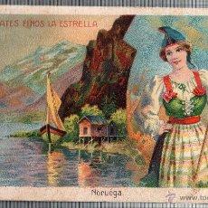Cartes Postales: TARJETA PUBLICITARIA CHOCOLATES FINOS LA ESTRELLA, CAMPESINA NORUEGA. Lote 49442583