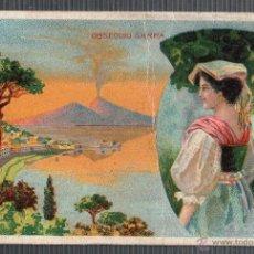 Cartes Postales: TARJETA PUBLICITARIA DROGUERIA SARRA, VINO PEPTONA. ITALIA. Lote 49442653