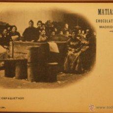 Postales: CHOCOLATES MATIAS LOPEZ - FOTOGRAFIA IMPRESA SIN CIRCULAR Y DORSO SIN DIVIDIR. Lote 49515364