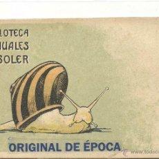 Postales: (PS-45655)POSTAL PUBLICITARIA DE LA BIBLIOTECA MANUALES SOLER. Lote 56956394