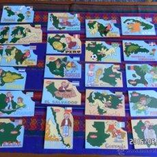 Postales: 24 POSTAL AMÉRICA CUÉTARA QUINTO CENTENARIO TVE 1990 CHILE PERÚ BRASIL CUBA EEUU COSTA RICA HAITÍ.... Lote 49938978