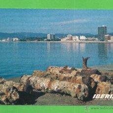 Postales: TARJETA POSTAL - LINEAS AÉREAS DE ESPAÑA IBERIA - ROSAS (COSTA BRAVA). 1968. - SIN CIRCULAR.. Lote 50238848