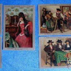 Postales: COLECCIÓN COMPLETA DE 6 POSTALES DE CARLOS VAZQUEZ. LA GLORIA. GALLETAS Y BIZCOCHOS. LIT. S. DURÁ.. Lote 50291943