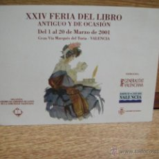 Postales: POSTAL PUBLICITARIA FERIA DEL LIBRO ANTIGUO - VALENCIA 2001. Lote 50563039
