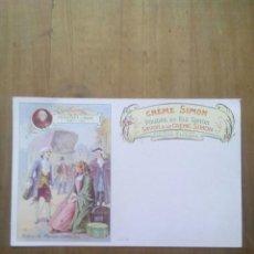 Postales: CARTE POSTALE SAVON A LE CRÉME SIMON / SCÈNE DE MANON . Lote 50566640
