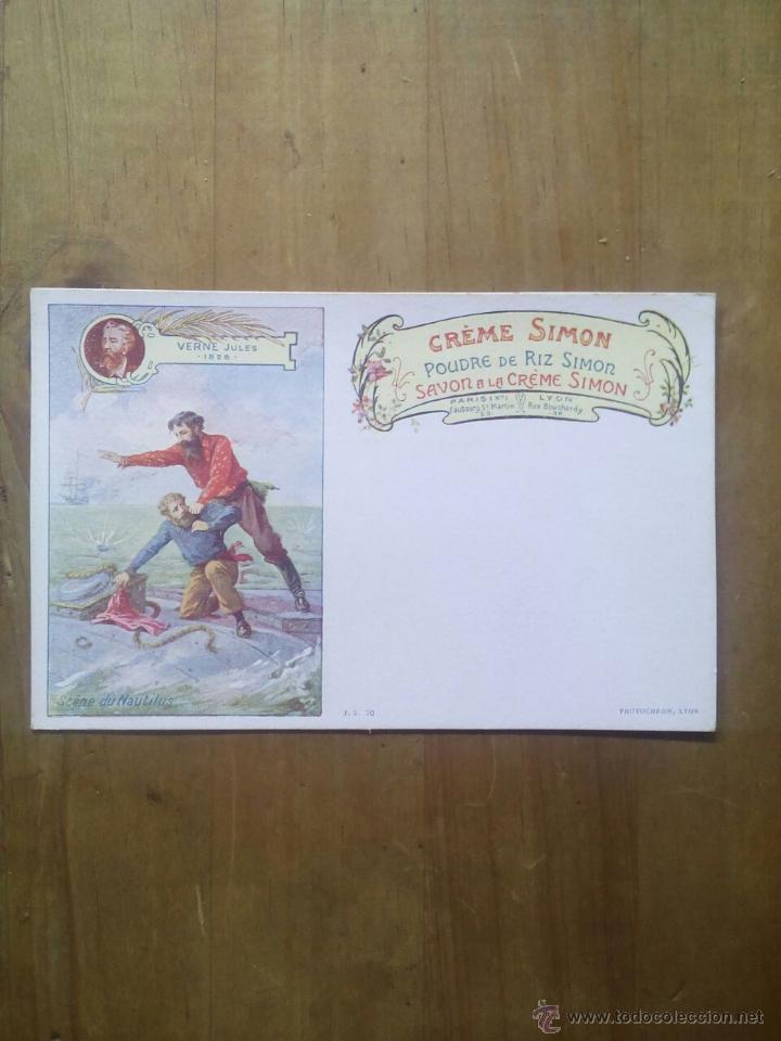CARTE POSTALE SAVON A LE CRÉME SIMON / SCÈNE VERNE JULES (Postales - Postales Temáticas - Publicitarias)