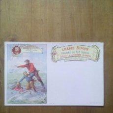 Postales: CARTE POSTALE SAVON A LE CRÉME SIMON / SCÈNE VERNE JULES. Lote 50566658