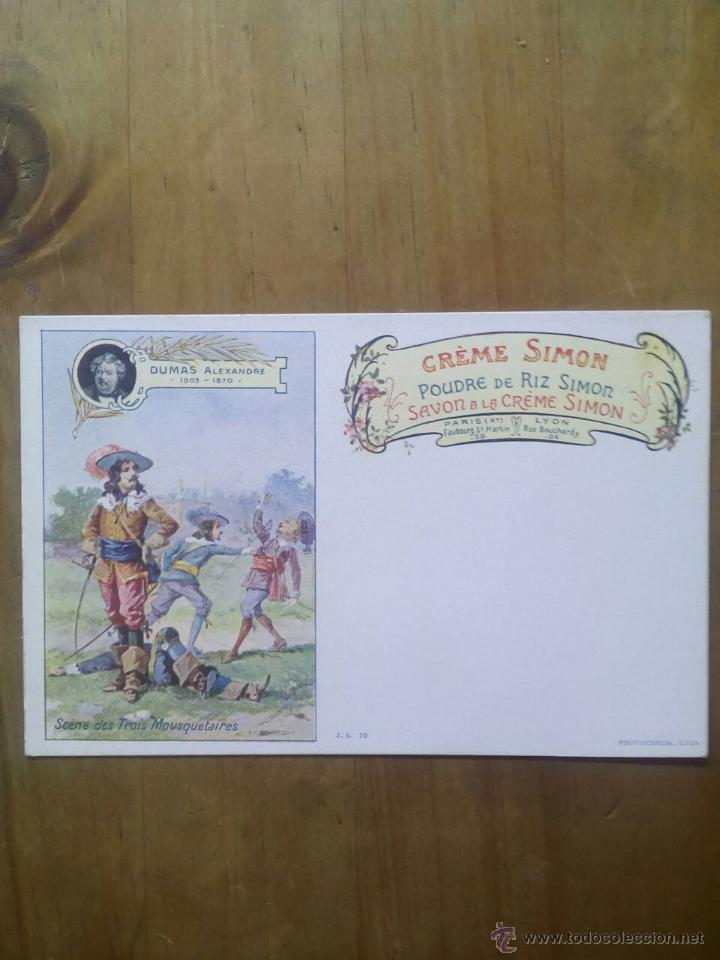 CARTE POSTALE SAVON A LE CRÉME SIMON / SCÈNE DUMAS ALEXANDRE (Postales - Postales Temáticas - Publicitarias)