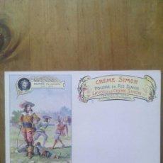 Postales: CARTE POSTALE SAVON A LE CRÉME SIMON / SCÈNE DUMAS ALEXANDRE. Lote 50566670