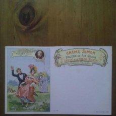 Postales: CARTE POSTALE SAVON A LE CRÉME SIMON / SCÈNE MURGER HENRI. Lote 50566681