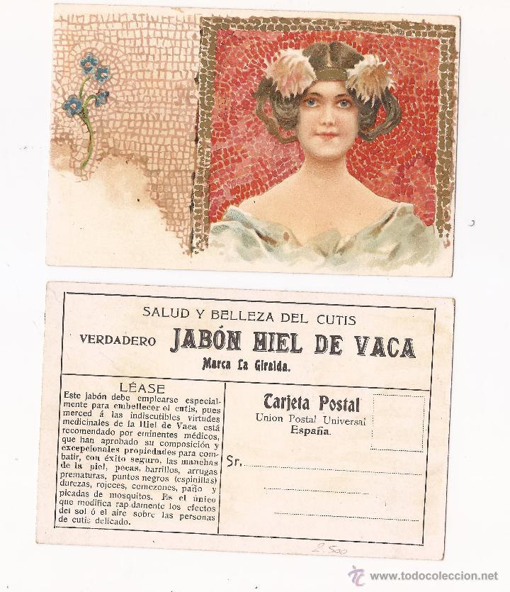 SALUD Y BELLEZA DEL CUTIS VERDADERO JABÓN HIEL DE VACA / MODERNISTA (Postales - Postales Temáticas - Publicitarias)