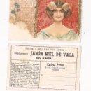 Postales: SALUD Y BELLEZA DEL CUTIS VERDADERO JABÓN HIEL DE VACA / MODERNISTA . Lote 50567775