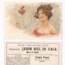 Postales: SALUD Y BELLEZA DEL CUTIS VERDADERO JABÓN HIEL DE VACA / MODERNISTA . Lote 50567794