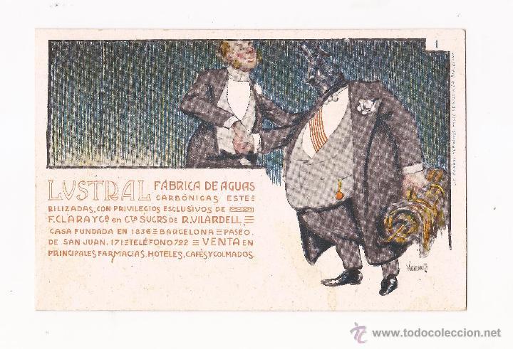 LUSTRAL FABRICA DE AGUAS CARBONICAS / COLECCIÓN DE 10 / ILUSTRADAS SIN CIRCULAR Y DORSO SIN DIVIDIR (Postales - Postales Temáticas - Publicitarias)