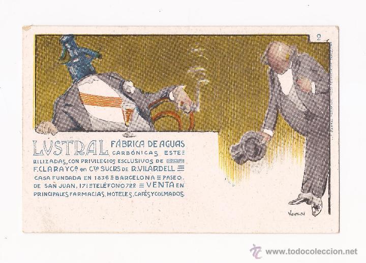 Postales: LUSTRAL FABRICA DE AGUAS CARBONICAS / COLECCIÓN DE 10 / ILUSTRADAS SIN CIRCULAR Y DORSO SIN DIVIDIR - Foto 2 - 50578900