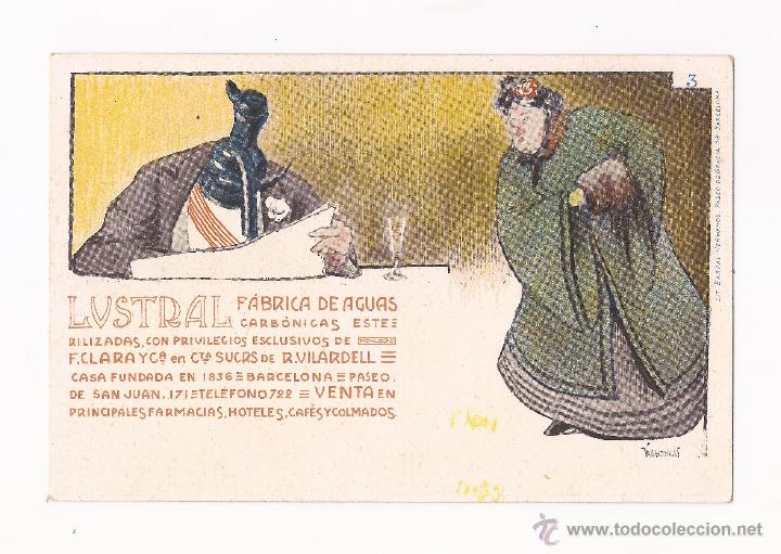 Postales: LUSTRAL FABRICA DE AGUAS CARBONICAS / COLECCIÓN DE 10 / ILUSTRADAS SIN CIRCULAR Y DORSO SIN DIVIDIR - Foto 3 - 50578900
