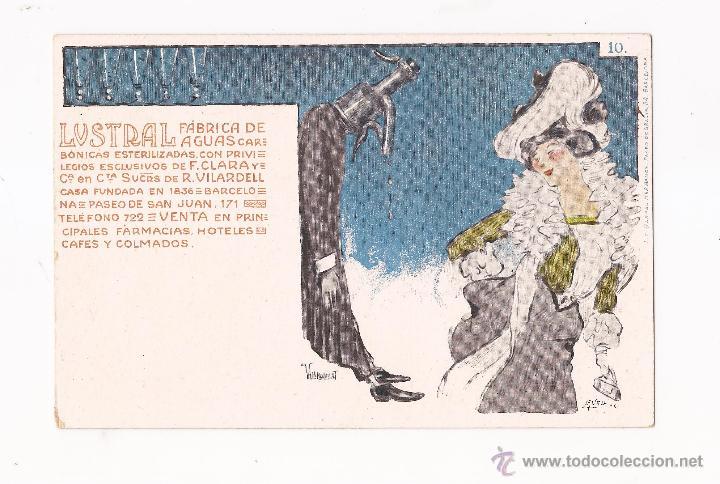 Postales: LUSTRAL FABRICA DE AGUAS CARBONICAS / COLECCIÓN DE 10 / ILUSTRADAS SIN CIRCULAR Y DORSO SIN DIVIDIR - Foto 10 - 50578900