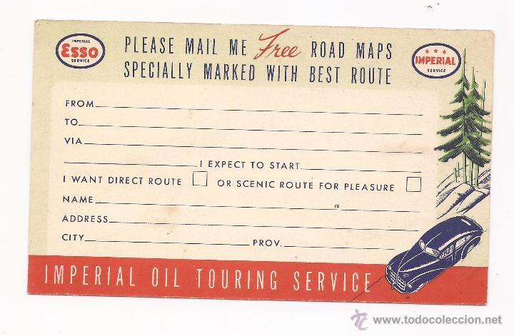 Postales: POSTAL ESSO FOR HAPPY MOTORING / IMPERIAL OIL TOURING SERVICE / ONTARIO / SIN USAR - Foto 1 - 50786284