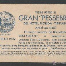 Postales: HOTEL FLORIDA - TIBIDABO - VISITE GRAN PESEBRE - TARJETA - P10963. Lote 50944790