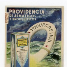 Postales: POSTAL PUBLICIDAD FARMACEUTICA YODURCAFINA (MADRID). Lote 50963572