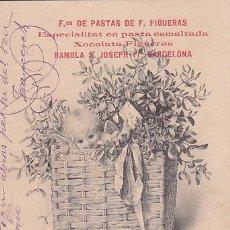 Postales: POSTAL PUBLICIDAD FABRICA PASTAS FIGUERAS BARCELONA 1910 - CHOCOLATES FIGUERAS - CERDO. Lote 51075599