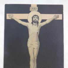 Postales: ANTIGUA TARJETA PUBLICIDAD : CRISTO. ASPIRINA BAYER. Lote 51514822