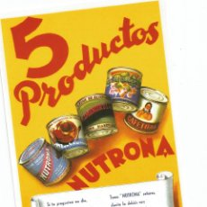 Postales: 5 PRODUCTOS NUTRONA. Lote 51712760