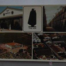 Postales: POSTAL FINE SHERRIES Y BRANDY CAPA NEGRA FROM SANDEMAN JEREZ DE LA FRONTERA. Lote 52120337