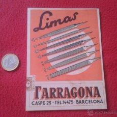 Postales: ANTIGUA POSTAL PUBLICITARIA PUBLICIDAD VALLET, S.A. LIMAS TARRAGONA BARCELONA CASPE, 23 MUY ESCASA I. Lote 52136967