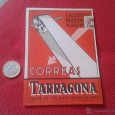 Postales: ANTIGUA POSTAL PUBLICITARIA PUBLICIDAD VALLET, S.A CORREAS TARRAGONA BARCELONA CASPE, 23 MUY ESCASA . Lote 52137145